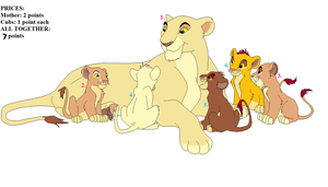 Lion family adoptables.CLOSED by YoungLioness