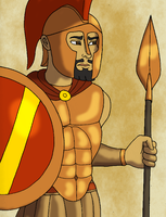 King Leonidas of Sparta by BrandonSPilcher