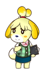 Animal Crossing - Isabelle Sticker by Sparkle-And-Sunshine