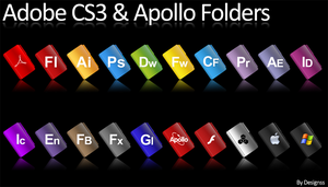 Adobe CS3 And Apollo Folders by Designss