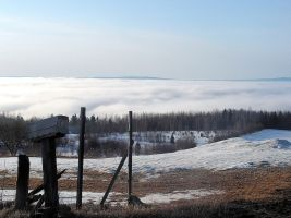 Sea of Clouds Over the River 2 by JocelyneR