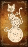 Steampunk Clockwork Cat by EpHyGeNiA