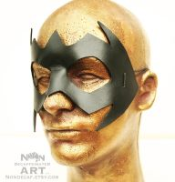handmade leather hero mask - in black by nondecaf