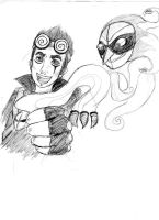 Jack Spicer and Wuya by FumiDeeCat