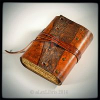 The Reptilian Traveler Journal, 5 x 4 inches, OOAK by alexlibris999