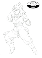 -COMMISSION- SSJ4 Vegito by MalikStudios