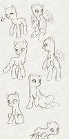 MLP Poses by hikariviny