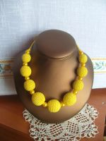 Yellow necklace by eva-crochet
