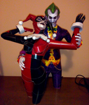 The Joker and Harley Quinn Papercraft by Sabi996