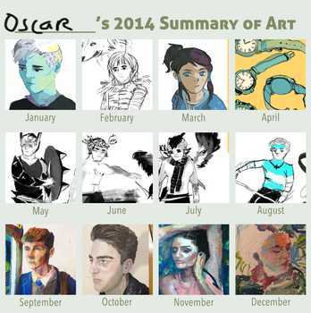 2014 summary of art by Mangomusher
