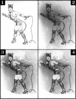 Catwoman  4 drawing stages by SpiritedFool