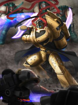 Gwalchavad the 12th primarch by thevampiredio