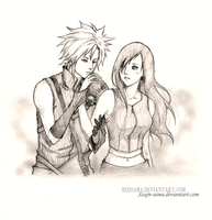 Commission - Cloud and Tifa by redsama