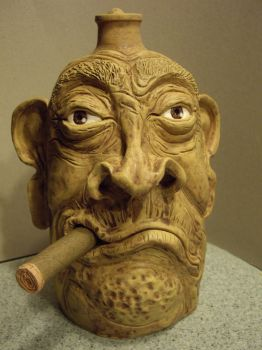 ''Uncle Lou'' Facejug by Fourpawpotter