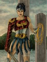 Wonder Woman in Armor - Colored by JGiampietro