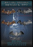 Batman Arkham Asylum and City icon by g-Vita