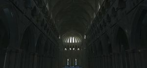 Gothic cathedral interior by LordGood