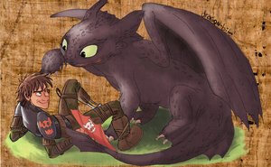 Vinking and Dragons enemies again .... by Pussycat-Puppy