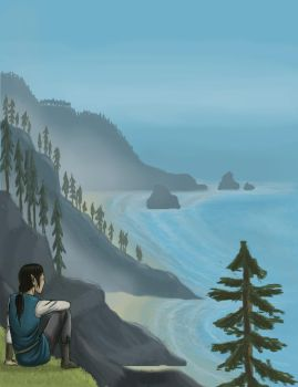 Voronwe contemplates the sea by rufious