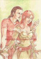 sCOM: Liam and Johanna by saniika