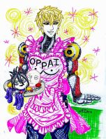OPM - Apron!Genos - Hue Sketch by LadyJuxtaposition