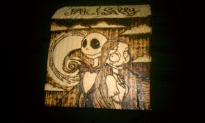 Jack And Sally Wood Burning by duplicity6