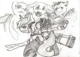 Commande Flutty Oc Crossover Attack on Titans by Brony-F