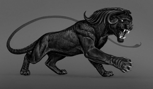 black manticore by Atenebris