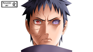 Obito Uchiha | Coloration by xRyuuzakii