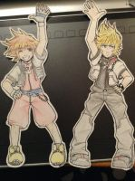 sora and roxas by SketchOMatic