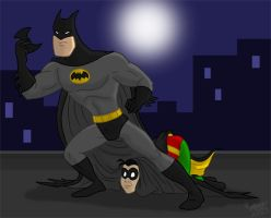 Batman and Robin Eeee by Spookaboo