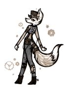 Foxy Steampunk Lady by Theevilchiquite