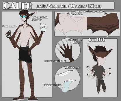 Caleb Kane | Reference sheet by SoulHunter213