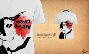 Wind Man Tshirt Ruzgar Adam by MuzafferSenel