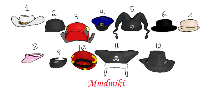 MMD Hat Pack 2 DL by 2234083174
