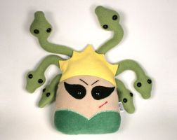 Medusa from Greek Mythology with Hair Snakes Plush by Saint-Angel