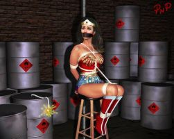 PNP Wonder Woman Linda Carter Bound 1 by ArtT1000