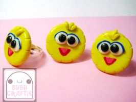 Big Bird Adjustable Rings by efeeha