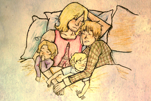 face family sleeping by frecklesmelody