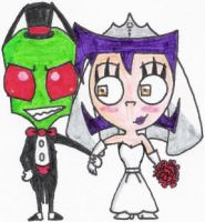 Zim and Gaz Get Hitched by nintendomaximus
