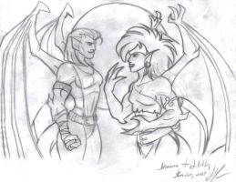 Demona and Lillith by DTaina
