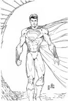 Man Of Steel (V Ken Vamrion Inks) by SupermanOfToday