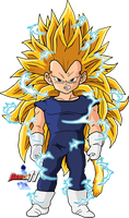 Kid Vegeta SSJ3 by Dairon11