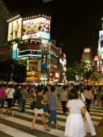 Busiest Crossing in the World at Night! by RunaFire