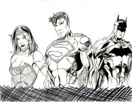 DC Trinity Rough Inks by mkscorpion202