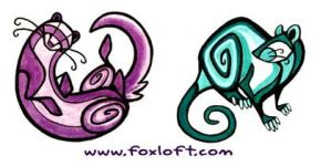 Nouvea Rat and Ferret Tattoos by Foxfeather248