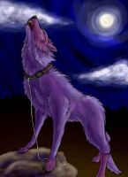 Howling Dog-Wolf Thing by myriamelle