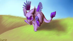 Chibi dycer running by TwitchyGears