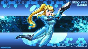 Zero suit Samus Wallpaper size by zerohime