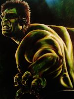 Hulk Painting by VanZanto